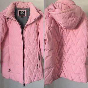 ZeroXposur Pink Puffy Snowboarding Jacket Pockets